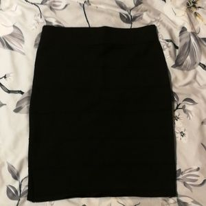 Dresses & Skirts - Black Stretchy Pencil Skirt